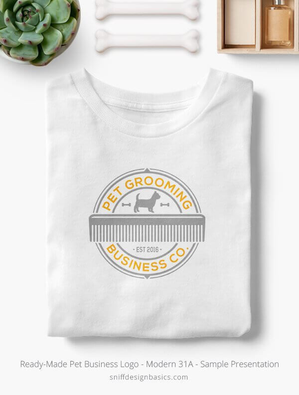 Ready-Made-Pet-Business-Logo-Showcae-T-Shirt-Modern-31A