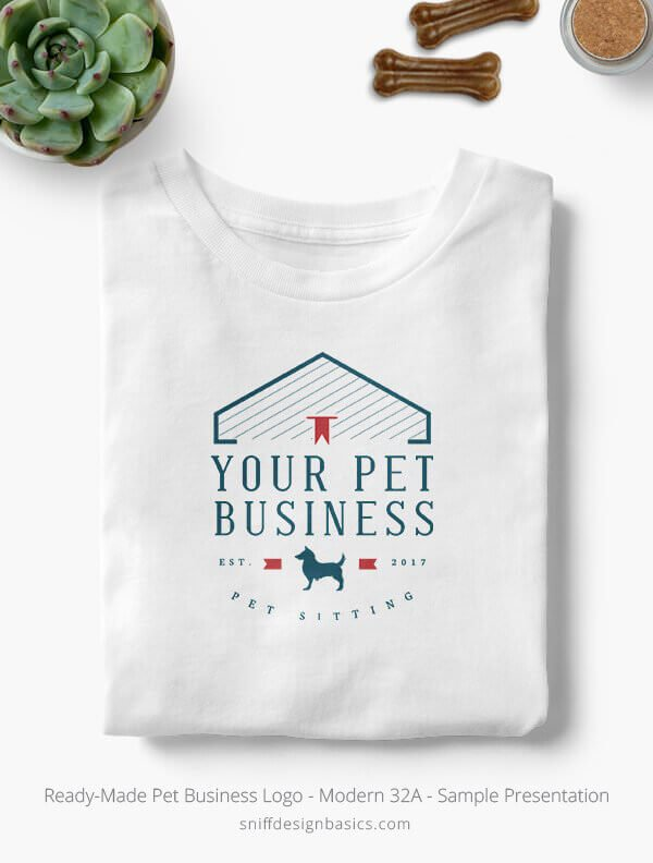 Ready-Made-Pet-Business-Logo-Showcae-T-Shirt-Modern-32A