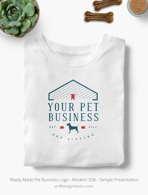 Ready-Made-Pet-Business-Logo-Showcae-T-Shirt-Modern-32B