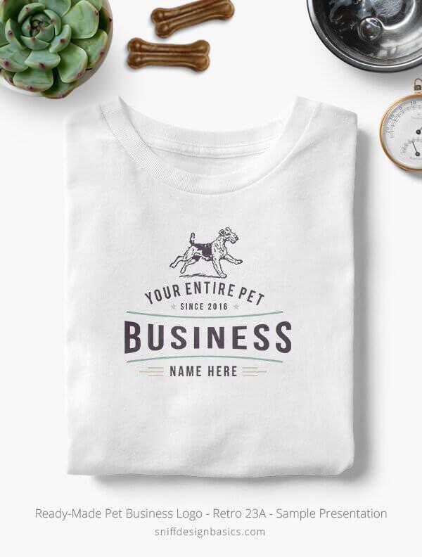 Ready-Made-Pet-Business-Logo-Showcae-T-Shirt-Retro-23A