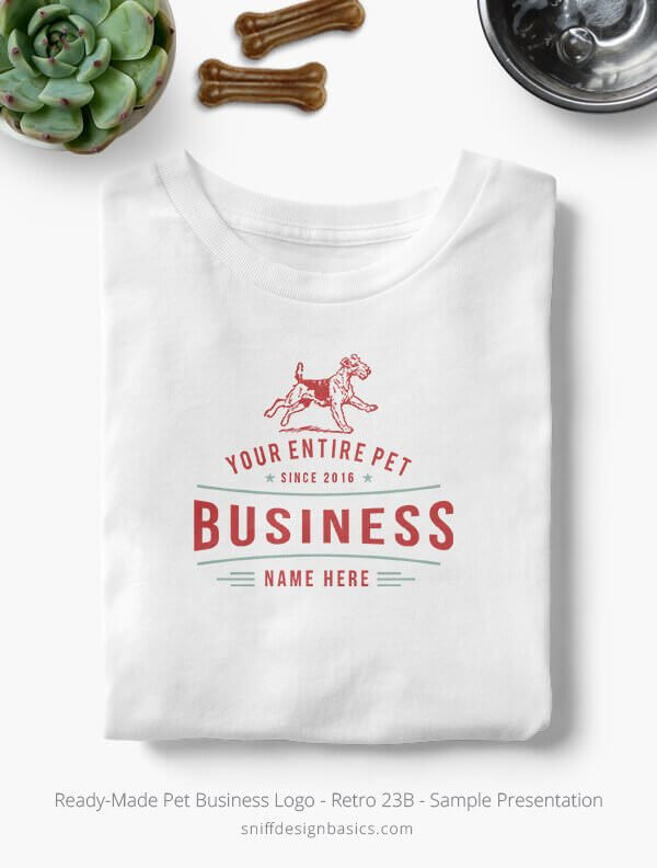 Ready-Made-Pet-Business-Logo-Showcae-T-Shirt-Retro-23B