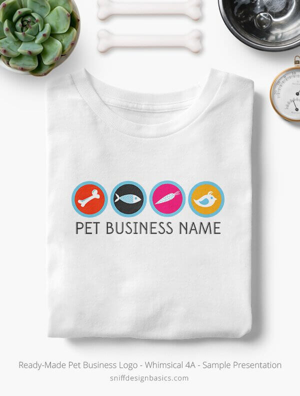 Ready-Made-Pet-Business-Logo-Showcae-T-Shirt-Whimsical-4A