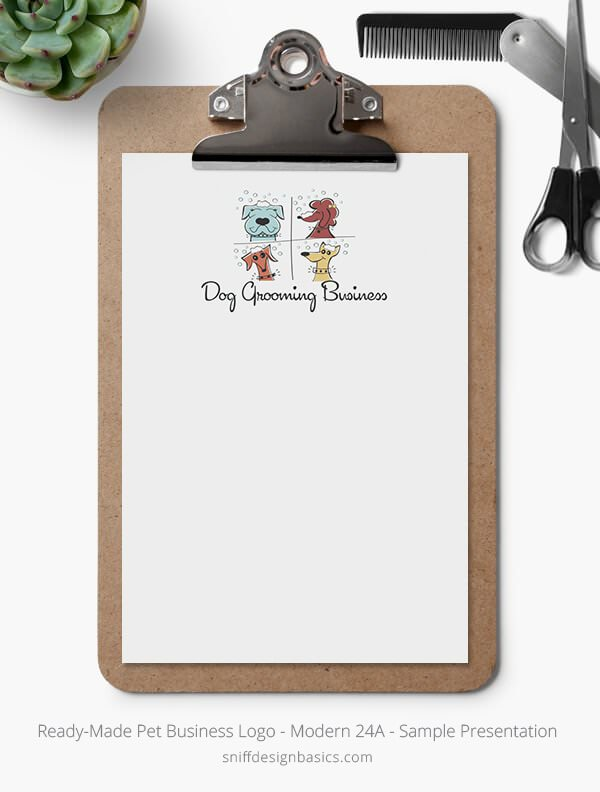 Ready-Made-Pet-Business-Logo-Showcase-Stationery-Letterhead-Modern-24A