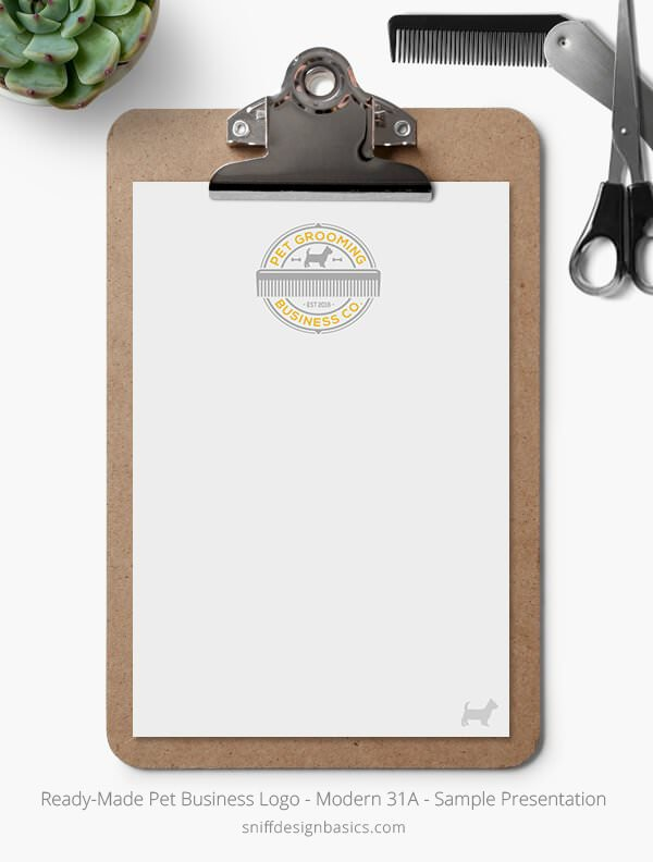 Ready-Made-Pet-Business-Logo-Showcase-Stationery-Letterhead-Modern-31A