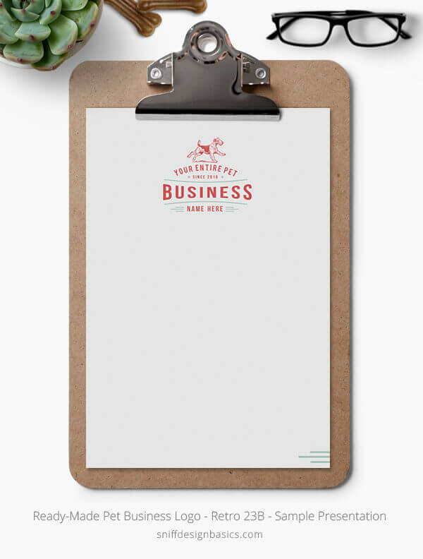 Ready-Made-Pet-Business-Logo-Showcase-Stationery-Letterhead-Retro-23B