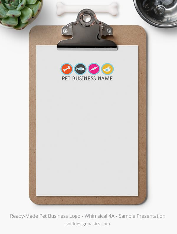 Ready-Made-Pet-Business-Logo-Showcase-Stationery-Letterhead-Whimsical-4A