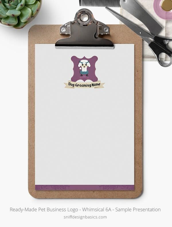 Ready-Made-Pet-Business-Logo-Showcase-Stationery-Letterhead-Whimsical-6A