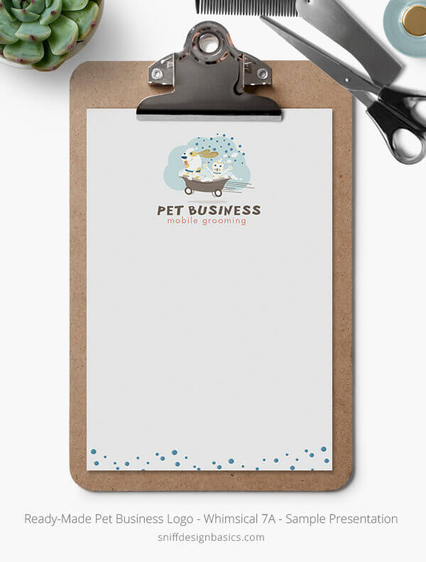 Ready-Made-Pet-Business-Logo-Showcase-Stationery-Letterhead-Whimsical-7A