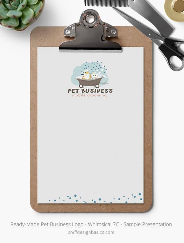 Ready-Made-Pet-Business-Logo-Showcase-Stationery-Letterhead-Whimsical-7C