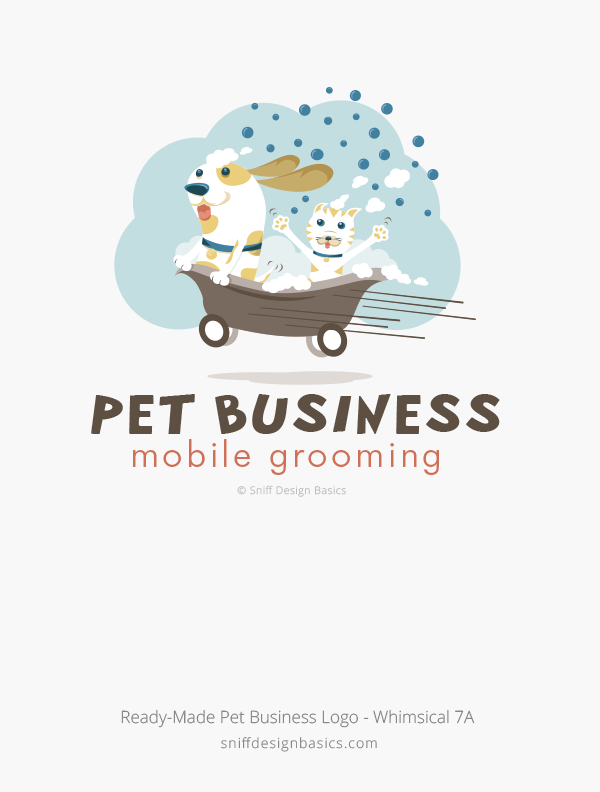 Ready-Made-Pet-Business-Logo-Whimsical-Design-7A