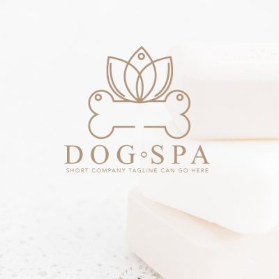 Calming Dog Spa Pre-Made Pet Business Branding Kit Design by Sniff Design Basics