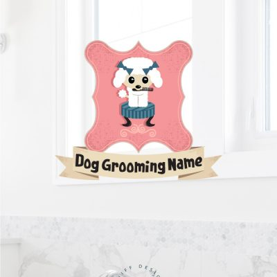 Darla darling dog grooming premade pet branding kit design by Sniff Design Basics