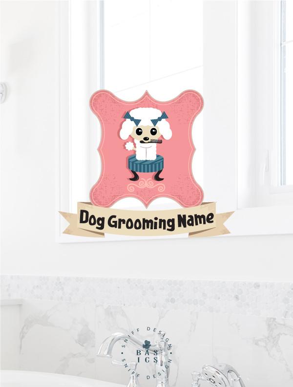 Darla darling dog grooming premade pet branding kit design by Sniff Design Basics