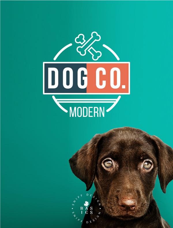 Modern Dog Co Pre Made Pet Branding Kit Design Pet Logo